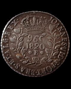 "Brasil 960 Réis 1820 B -"" Variante 16"""