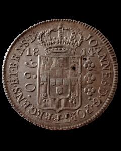 """Brasil 960 Réis 1814 R -"""" Variante 13A"""""""