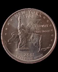 Estados Unidos ¼ dólar 2001 P - Nova York State Quarter