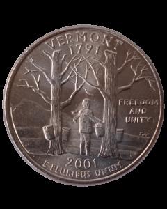 Estados Unidos ¼ dólar 2001 P - Vermont  State Quarter