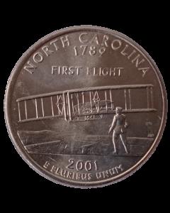 Estados Unidos ¼ dólar 2001 P - Carolina do Norte State Quarter