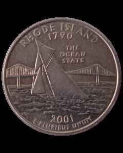 Estados Unidos ¼ dólar 2001 P - Rhode Island State Quarter