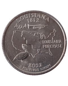 Estados Unidos ¼ dólar 2002 P - Louisiana State Quarter