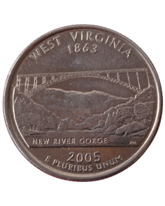 Estados Unidos ¼ dólar 2005 D ou P - West Virgínia State Quarter