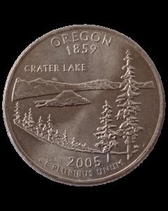 Estados Unidos ¼ dólar 2005 D ou P - Oregon State Quarter