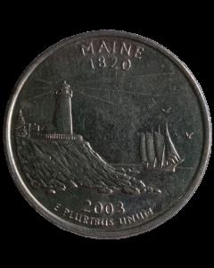 Estados Unidos ¼ dólar 2003 D - Maine State Quarter