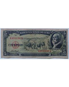 Cuba 5 Pesos 1958