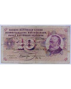 Suíça 10 Francos 1970