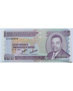 Burundi 100 Francos 2007 FE