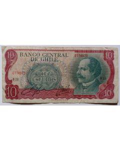 Chile 10 Escudos 1970