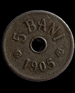 Reino da Romênia 5 Bani 1905