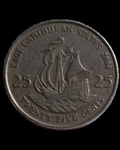Caribe Oriental 25 Cents 2004