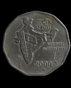 Índia 2 Rúpias 2000 - Integração Nacional