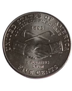 """Estados Unidos da América 5 Cents 2004 """"D"""" FC - Bicentenário da expedição de Lewis e Clark - Lousiana Purchase"""