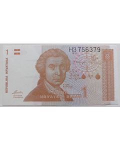 Croácia 1 Dinar 1991 FE