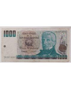 Argentina 1000 Pesos Argentinos 1985