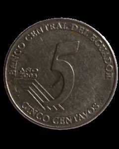 Equador 5 Centavos 2003