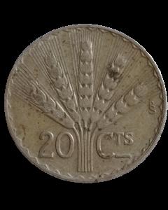 Uruguai 20 Centésimos 1942 - Prata