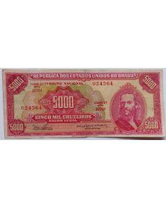 Brasil 5000 Cruzeiros 1965 Tiradentes -  C110