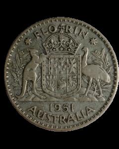 Austrália 2 Shillings 1951 - Prata