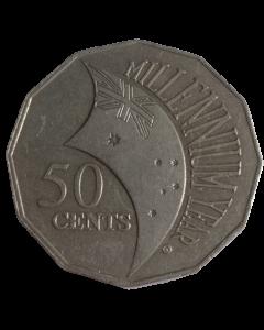 Austrália 50 Cents 2000 - Milênio