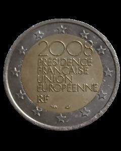 França 2 Euros 2008 - Presidência Francesa do Conselho da União Europeia