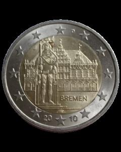 Alemanha 2 Euros 2010 - Câmara Municipal e Estátua de Orlando, Bremen