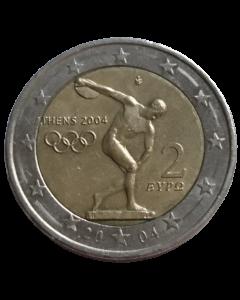 Grécia 2 Euros 2004 - XXVIII  Jogos Olímpicos de 2004 em Atenas