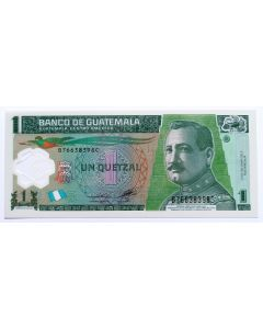 Guatemala 1 Quetzal 2012 FE - Polímero