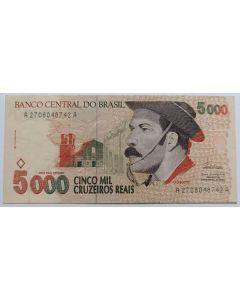 Brasil C239 5000 Cruzeiros Reais 1993 - Gaúcho