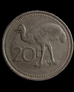 Papua Nova Guiné 20 Toea 1975