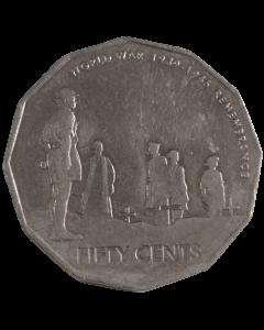 Austrália 50 Cents 2005 - 60º aniversário - fim da segunda guerra mundial