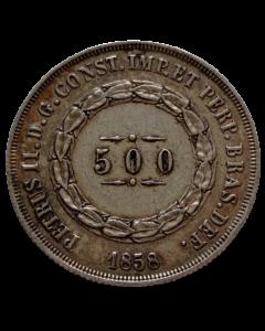 Brasil 500 Réis 1858 - Prata