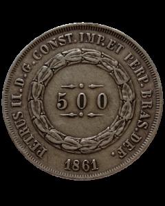 Brasil 500 Réis 1861 - Prata
