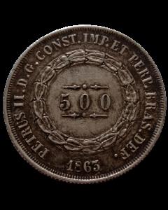 Brasil 500 Réis 1863 - Prata
