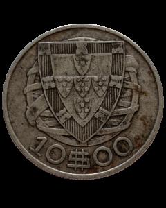 Portugal 10 Escudos 1932 - Prata