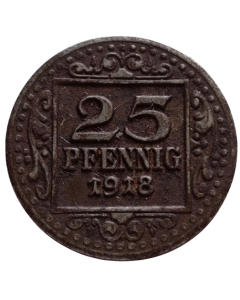 Cidade de Münster em Westfalen 25 Pfennig 1918 - Notgeld