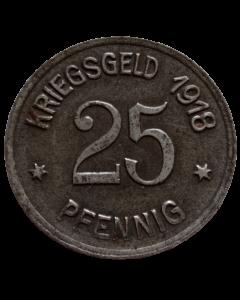 Cidade de Coblenz 25 Pfennig 1918 - Notgeld