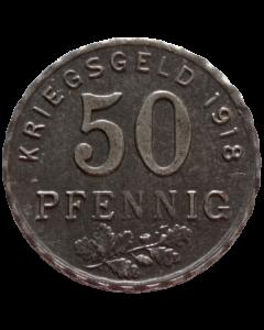 Distritos de Bochum, Gelsenkirchen e Hattingen 50 Pfennig 1918 - Notgeld