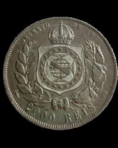 Brasil 2000 Réis 1887 - Prata