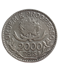 Brasil 2000 Réis 1913 - Estrelas Sotas (Prata)