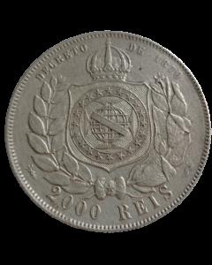 Brasil 2000 Réis 1889 - Com rabicho (Prata)