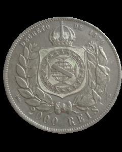 Brasil 2000 Réis 1889 - Prata