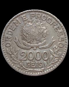 Brasil 2000 Réis 1913 - Estrelas Soltas (Prata)