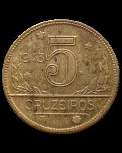 Brasil 5 Cruzeiros 1943