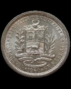 Venezuea 1 Bolívar 1960 - Prata