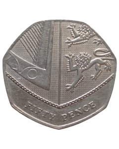 Reino Unido 50 Pence 2019 - Escudo Britânico