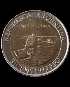 Argentina 1 Peso 2010 FC - Bicentenário da Argentina - Mar del Plata