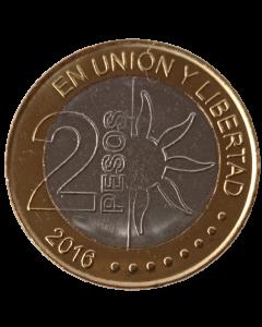 Argentina 2 Pesos 2016 FC - 200º aniversário - Independência