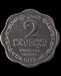 Sri Lanka 2 Cêntimos 1978 FC